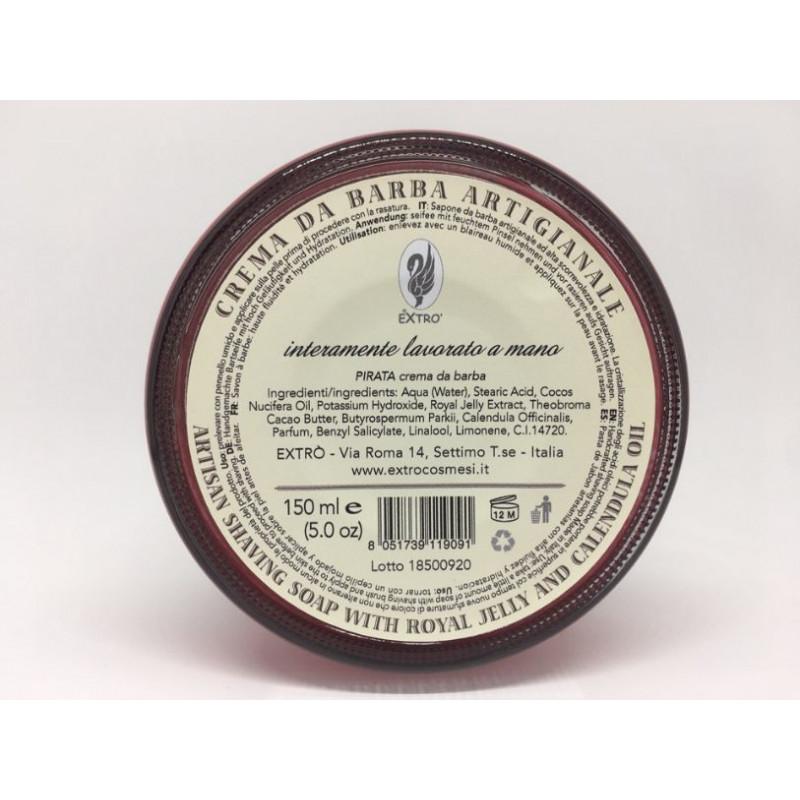 crema da barba pirata 150 ml.