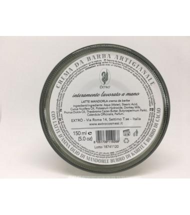 crema da barba latte mandorla 150 ml.