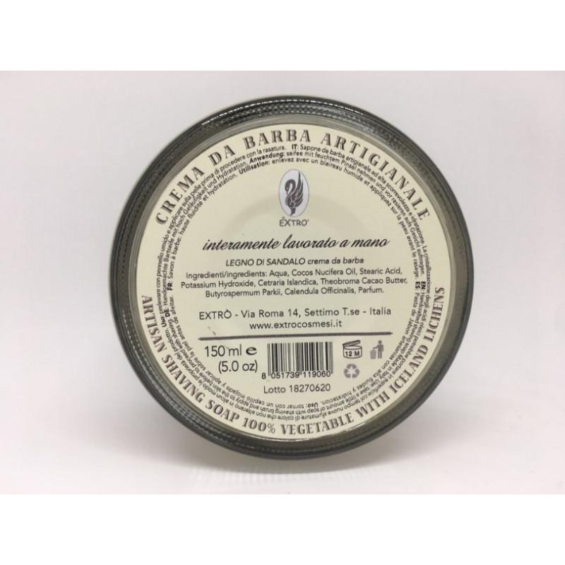 crema da barba legno di sandalo 150 ml.