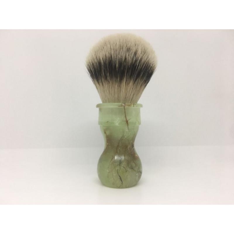 pennello resina giada silvertip realizzato a mano