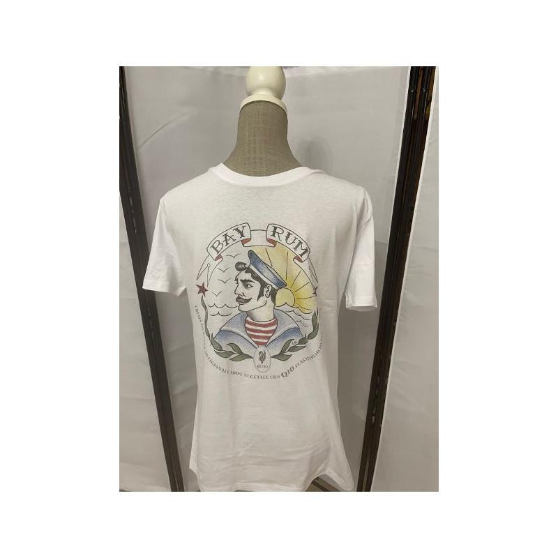 t-shirt bay rum bianca xl