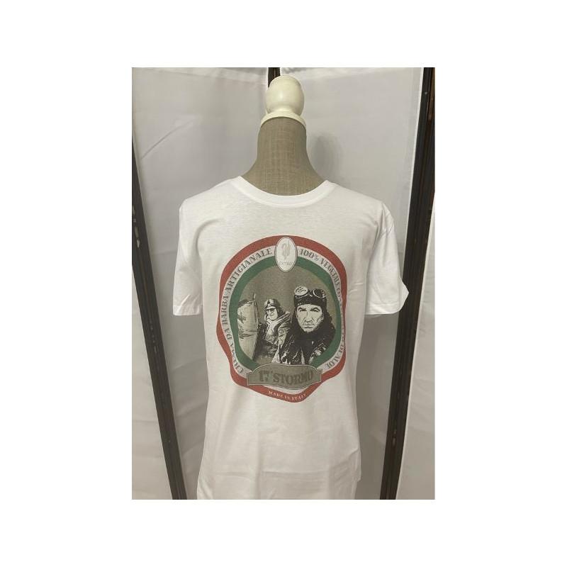 t-shirt 17° stormo bianca L