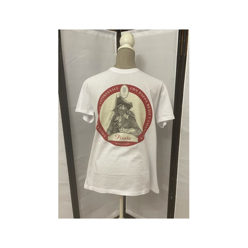 t-shirt pirata bianca XL