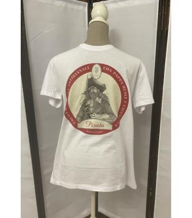 t-shirt pirata bianca L
