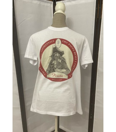 t-shirt pirata bianca M